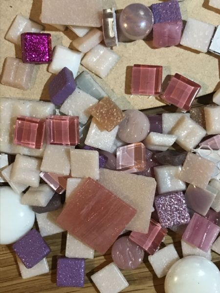 Pink Heart Mosaic Kit